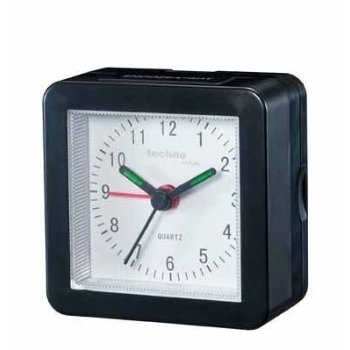 Technoline 石英钟黑色外壳Geneva SC/Quartz clock black