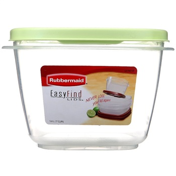 Rubbermaid乐柏美 Easy Find Lids 7.0 Cup(1.6L)方形PP保鲜盒F